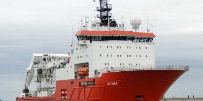 [Actualités travaux] Le bateau Aethra est parti ce jour pour le port de Cherbourg