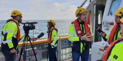 [Actualités] Présentation à la presse locale des outils de mesures de bruits et de turbidité en mer